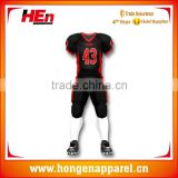 Hongen apparel Customized 100% Polyester Mesh Wicking Material American Football Jersey