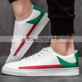 fashion man casual shoes white leather men sneaker shoes