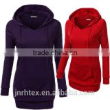 Women Ladies Fitted Hoodies Casual Coat Pullover Outerwear Sweatshirt Extra Long