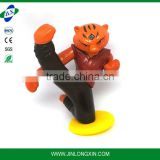 Action of the tiger plastic toys pvc animal of the chinese zodiac Tiger kidrobot du mask bear vinyl toy