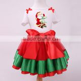 Baby Girl Christmas Santa T-shirt Tops with Tutu Skirt Outfits