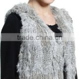 YR584 Beautiful Tassel Genuine Rabbit Fur Vest Women Top Quality 2015