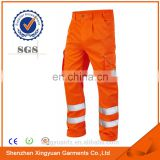 Mens Polyester/Cotton Oil resistant reflective tape Used workwear work pants