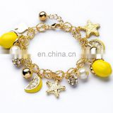 New arrive fashion kids bead bracelets lemon fruit star colorful Beach acrylic bracelets