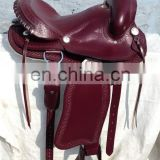 WESTERN HORSE LEATHER SADDLE.