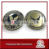 Professional OEM Custom Embossed & Enamel Type USA Military Souvenir Bronze Unique Metal Souvenir Coin