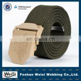 2013 latest fashion metal buckle customized polyester webbing belt