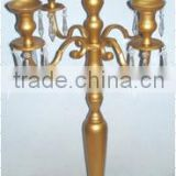 Crystal Gold Candelabra For Wedding And Parties