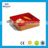 Promotional gifts logo printed customized square MDF cork coaster                                                                                                         Supplier's Choice
