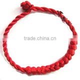 Good Luck Kabbalah Knotted Red String of Faith Rope Bracelet