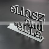 Customize Black+Frosted 3D Acrylic Logo 3D Laser Cut Acrylic Letter Engraving Acrylic