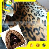 100% polyester animal printed textile fabric market for pet bed