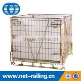 Folded wire mesh steel forklifts stacking container