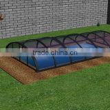 Swimming pool cover and enclosure