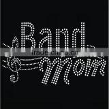 Bling Bling Iron On Transfer Band Mom Rhinestone Transfer