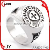 Wholesale stainless steel main custom logo engraved letter silver signet rings                                                                         Quality Choice