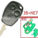 Good quality 3 Button Remote Key With 7946 Chip Round Button With NE73 Blade for Renault