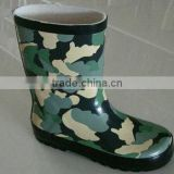 Youth Boy's Camo Rubber Gumboots