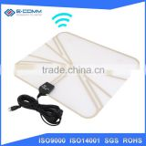 E-comm UHF/VHF Best-selling Indoor TV Antenna with Amplifier 50+Mile DVB-T2 Antenna Paper Thin Digital HDTV antenna