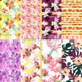 High quality custom flower printing lycra swimwear fabric/printed fabric for ladie's underwear and garment