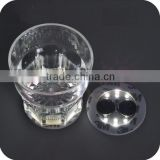 Bottle Bottom Light sticker Factory supply food grade PS material LED light changing color flashing plastic cup