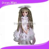 Long deep wave blond doll wigs with baby hair