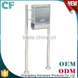 Made In China Wrought Stainless Steel Free Standing Western Mailboxes letterbox