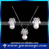 Wholesale Necklace and Earrings fasgion imitate pearl jewelry set necklace set S0008