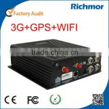 Richmor Wifi auto download 4ch GPS live tracking commercial bus security system Vehicle MDVR