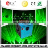 High Power Lasers 5W Green Stage Lights,Laser Light Show Equipment with SD Card