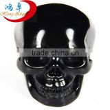 "Cheap wholesale hand made 2"" natural gemstone Black Obsidian carved decoration skull for sale crystal skull healing"