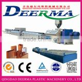 CE approved high efficiency automatic wpc pvc skirting profile processing machine