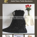 2015 New Ultra Soft Luxury Black Throw For All Sizes Double Velvet PV Fur Polar Fleece Plush Blanket