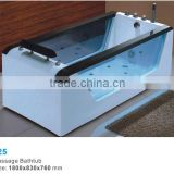 Economic Acrylic Glass both side Massage Bathtub/Air Massage Bathtub with pillow