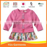 Hot sale good quality Girl daily wear dress baby girl frill dress baby girl dress patterns