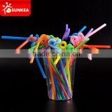 Long thick plastic flexible folding drinking straw                                                                         Quality Choice