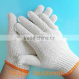 10 gauge good knitted white cotton labor protection gloves for industrial and labor work