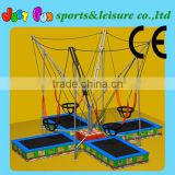 hot sale 4 beds bungee cord trampoline for children and adults