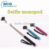 Hot extendable monopod selfie stick, handheld camera photo monopod with adjustable phone holder 3 colors