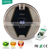 wifi JISIWEI S+ golden carpet, wooden floor, marble large dustbin auto vacuum cleaner with mop and camera factory