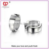 316L Titanium Steel Hot Selling Jewelry Silver Blank Earring Little Hollow Circle Stainless Steel Earring Silver Hoop Earring