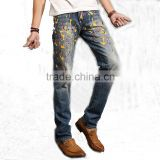 top design men colorful jeans pants vogue customized jeans long trousers