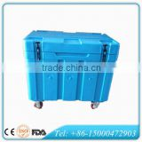 Rotomold dry ice transport cooler box, PU insulated ice cooler for dry ice storing and transportation