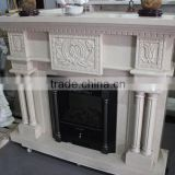 Nature stone white onyx fireplace for gallery decoration