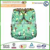 happy flute ai2 baby reusable cloth diaper nappies ai2 cotton flannel fabric cotton diapers print fabric baby product                                                                                                         Supplier's Choice