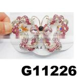 fashion butterfly crystal butterfly hair clip french barrette hair clips wholesale