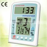 KT201 digital,date temp. wall clock digital hygrometer thermometer