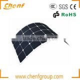Hot sale portable solar charger panel, amorphous silicon thin film flexible solar panel with CE for yacht/boat/ship