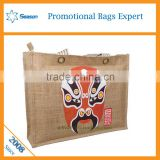 Wholesale low cost jute bag fashion jute bag used shopping bag