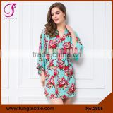 FUNG 2805 Cotton Floral Robes